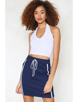 It's A Drawstring Striped Skirt by Nasty Gal