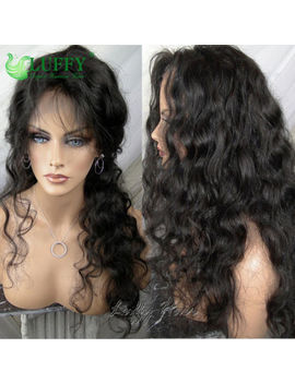 Luffy Pre Plucked Deep Loose Wave Full Lace Wigs Peruvian Virgin Human Hair Wigs by Luffywig