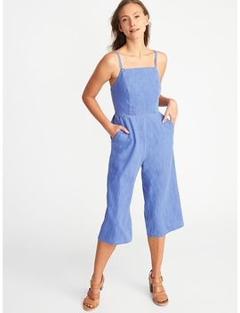 Sleeveless Chambray Cami Jumpsuit For Women by Old Navy