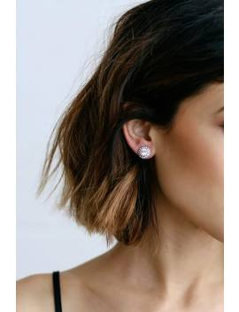 Realized Potential Silver Rhinestone Earrings by Lulus