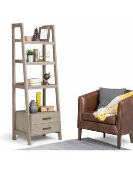 Simpli Home Sawhorse Ladder Shelf With Storage by Simpli