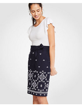Floral Eyelet Pencil Skirt by Ann Taylor