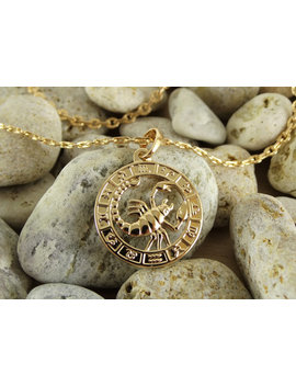 Scorpio Necklace Scorpio Pendant Scorpio Charm Scorpio Jewelry Charm Necklace Gold Plated Necklace Scorpio Zodiac Under 30 Pendant Jewellery by Etsy