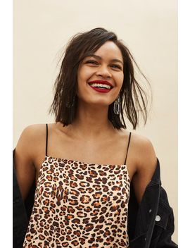 Leopard Mini Slip Dress by Topshop