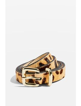 Leopard Print Skinny Triple Keeper Belt by Topshop