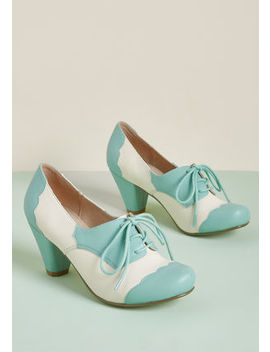 Chelsea Crew This Stride Of Paradise Oxford Heel In Mint Chelsea Crew This Stride Of Paradise Oxford Heel In Mint by Chelsea Crew