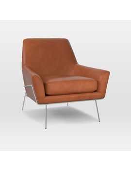 Lucas Wire Leather Chair by West Elm