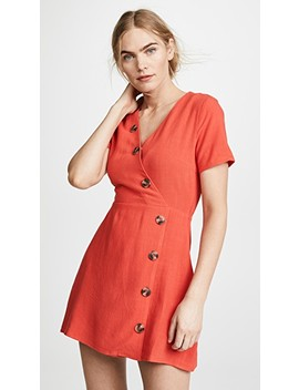 Red Button Front Dress by Moon River