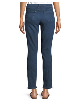 Maude Mid Rise Cigarette Jeans In Belladonna by J Brand