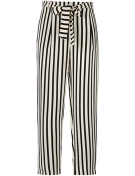 Striped Cropped Trousers by Chinti & Parker