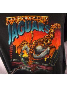 Vintage Jacksonville Jaguars T Shirt Xl Black Extra Large Salem Sportswear 1990s by Salem Sportswear