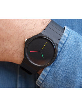 Custom Casio Happy Colors   Unisex Watch   Mens Watch   Women Watches   Minimalist Watch   Black Matte Dial   Casio Watch   Watches by Etsy