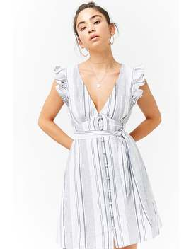 Linen Striped Dress by Forever 21