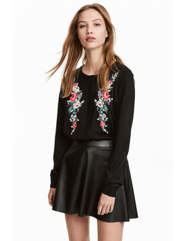 Embroidered Cardigan by H&M