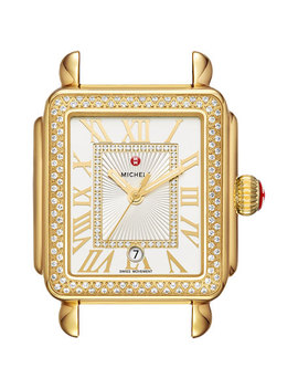 Deco Madison Bracelet Watch With Diamonds In 18 K Gold Plate by Michele