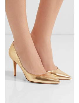 85 Metallic Leather Pumps by Gianvito Rossi