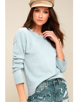 Nanette Light Blue Knit Sweater by Olive + Oak