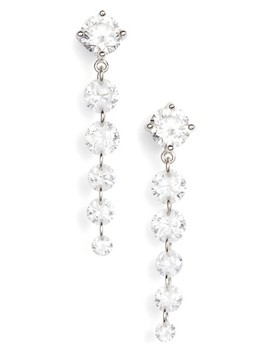 Cubic Zirconia Graduated Drop Earrings by Nordstrom