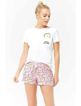 Egg Graphic Pajama Set by F21 Contemporary