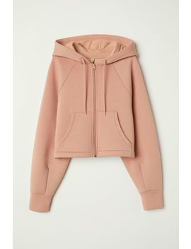 Scuba Fabric Hooded Jacket by H&M