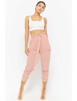 Paperbag Waist Pants by F21 Contemporary