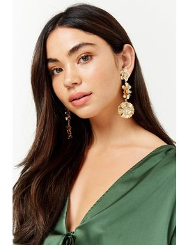 Tiered Floral Drop Earrings by Forever 21