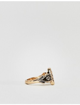 Asos Design Ornate Monogram 'a' Initial Ring by Asos Design