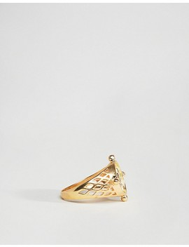 Asos Gold Plated Sterling Silver Vintage Style Coin Ring by Asos Collection