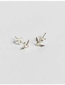 Kingsley Ryan Sterling Silver Swallow Stud Earrings by Kingsley Ryan