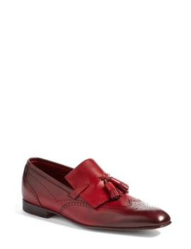 Floyd Tassel Wingtip Loafer by Santoni