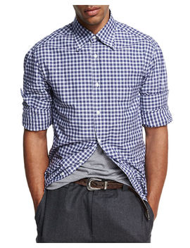 Madras Plaid Cotton Shirt by Neiman Marcus