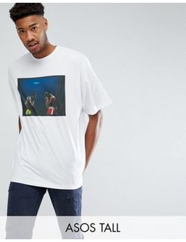 Asos Tall Muhammad Ali Oversized T Shirt With Photographic Print by Asos
