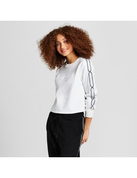 Hunter For Target Women's Chain Trim Sweatshirt   White by Hunter For Target