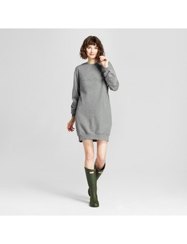 Hunter For Target Women's Exaggerated Sleeve Sweatshirt Dress With Pockets   Gray by Hunter For Target