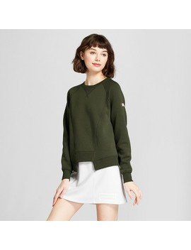 Hunter For Target Women's Deconstructed Sweatshirt   Olive by Hunter For Target