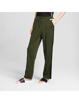 Hunter For Target Women's Tapered Side Snap Track Pants   Olive by Hunter For Target