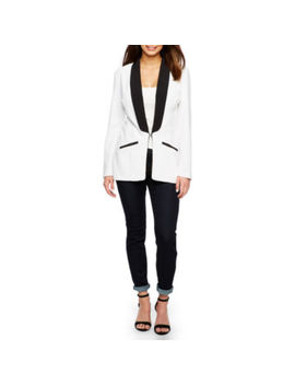 Bold Elements Long Sleeve Sexy Stretch Tuxedo Blazer by Bold Elements