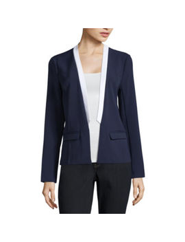 Project Runway Long Sleeve Contrast Blazer by Project Runway