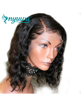 Short Lace Front Human Hair Wigs Pre Plucked With Baby Hair Brazilian Remy Hair Glueless Lace Wigs Bleached Knots Nyuwa by Ali Express