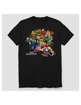 Men's Nintendo Short Sleeve Mario Kart T Shirt   Black by Nintendo