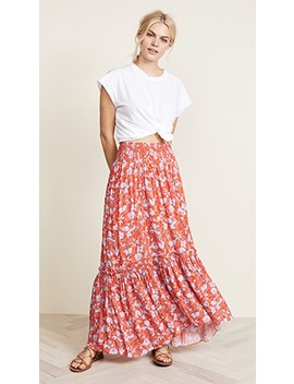 Way Of The Wind Printed Midi Skirt by Free People