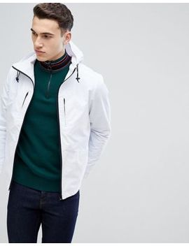 Stradivarius Hooded Jacket In White by Stradivarius