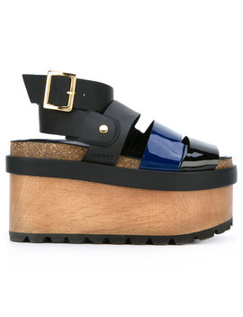 Patent Flatform Sandals by Sacai