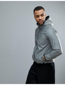 Hiit Reflective Overhead Jacket In Sliver by Hiit