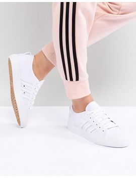 Adidas Originals Nizza Canvas Sneakers In White by Adidas
