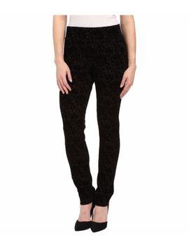 Nwt Nydj Not Your Daughters Jeans Leggings Black Primrose Flocking Pants Sz 6 P by Ebay Seller