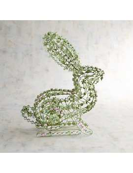 Green Jeweled Bunny by Pier1 Imports