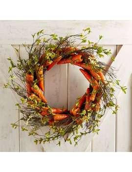"Faux Mini Flowers & Carrots 22"" Wreath by Pier1 Imports"