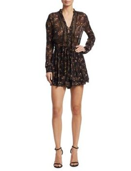Sunny Wrap Tie Playsuit by Zimmermann