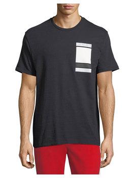 Minimalist Cubes Cotton T Shirt by Neil Barrett